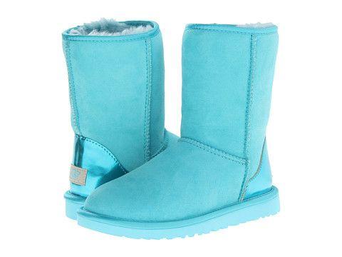ugg classic short metallic patent blue curacao twinface zappos com rh pinterest com