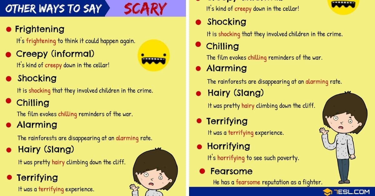 Scary Synonyms 95 Synonyms For Scary In English Scary Synonym