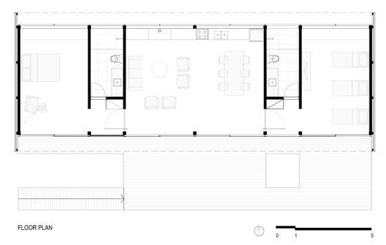 Dise o de casa peque a moderna fachadas y planos casas for Casa minimalista dwg