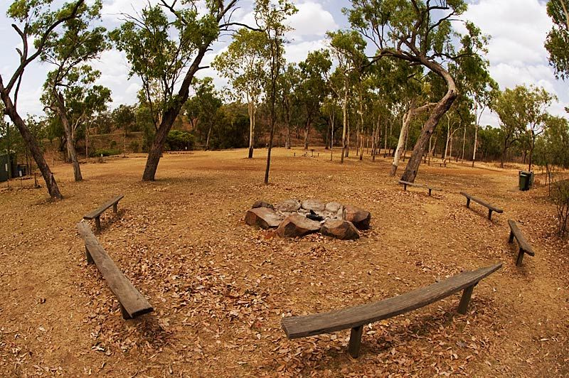 Caravan and camping area at Cobbold Gorge
