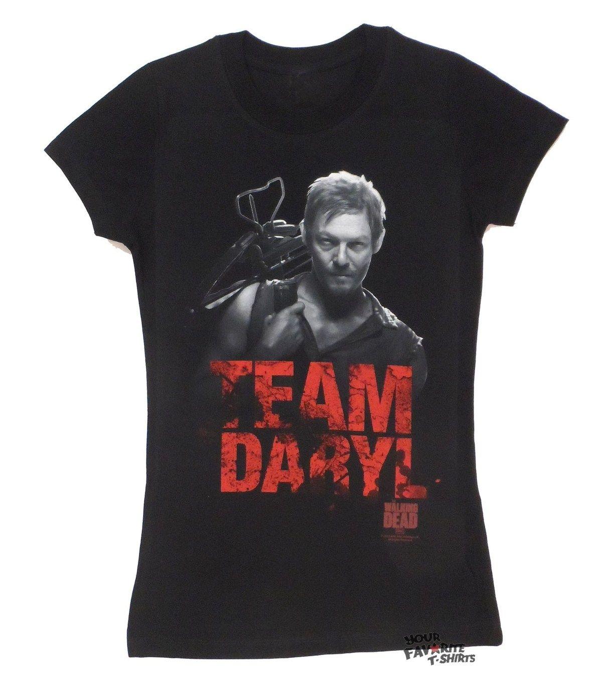 Walking Dead Team Daryl Junior Ladies T-Shirt New