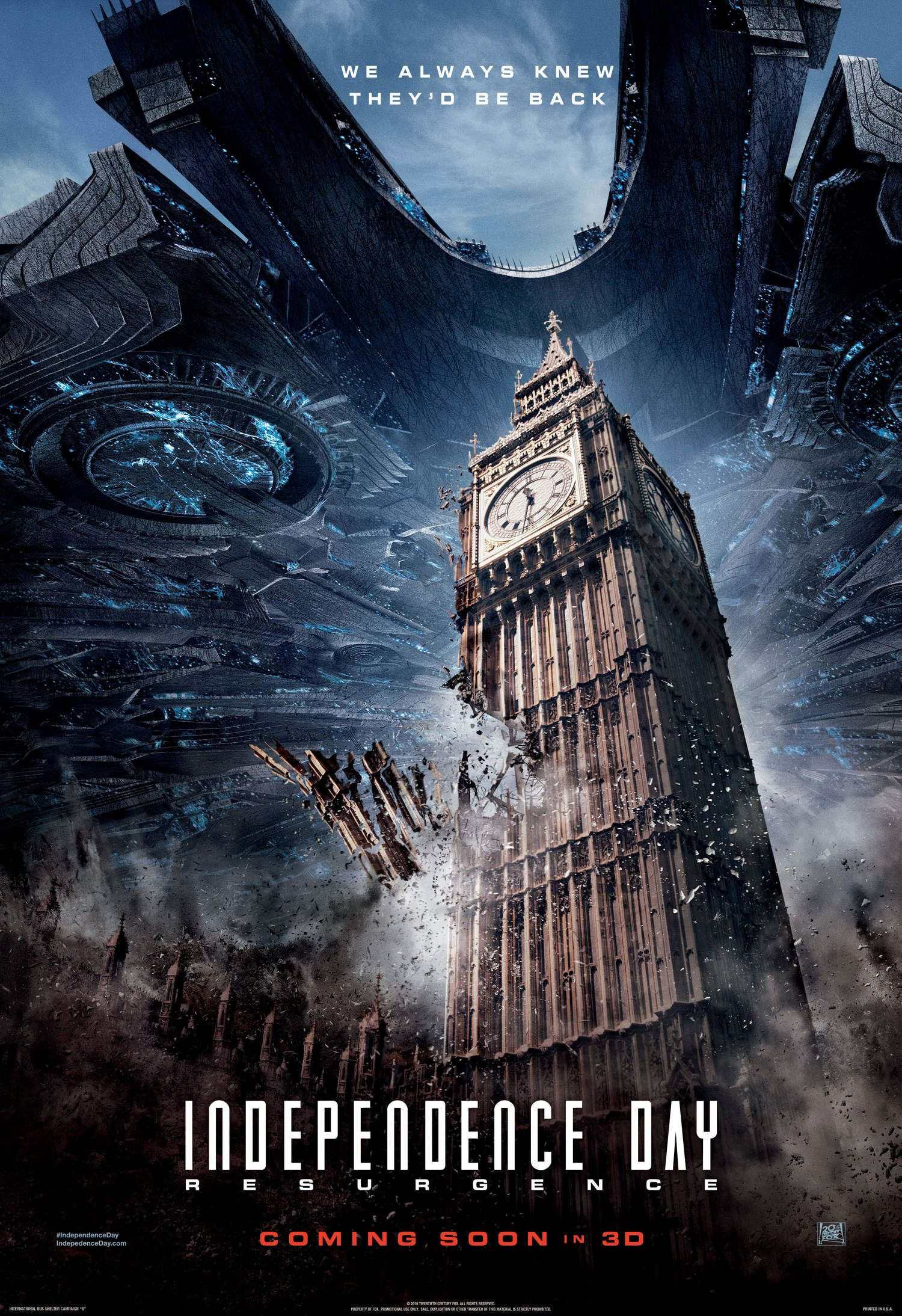More Famous Landmarks Are Destroyed In Posters For Independence Day Resurgence Geektyrant Movie Posters Full Movies Sci Fi Movies