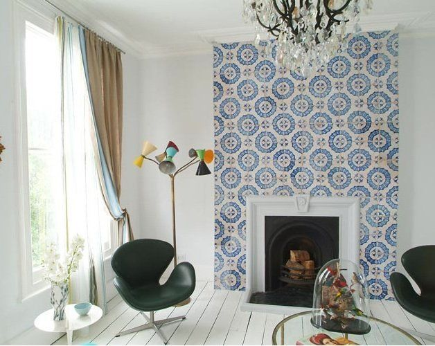 Eye Candy For Your Home Handmade Cement Tiles Fireplace Tile Surround Tile Inspiration Fireplace Tile