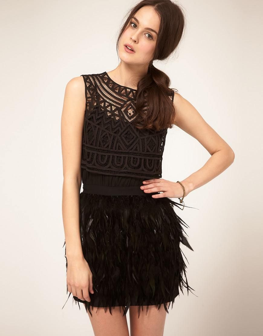 2e4b2250d8 vestido plumas asos crochet