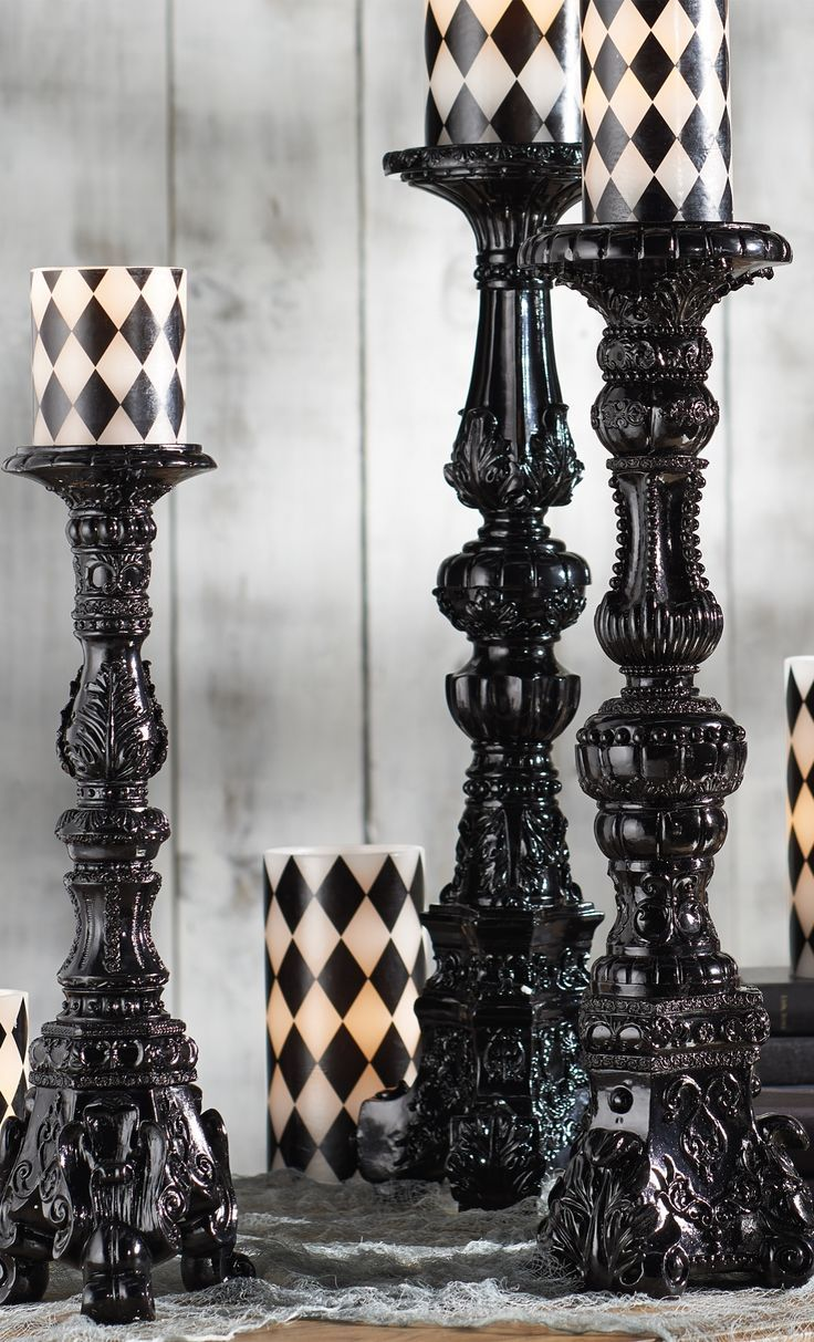 15 creepy gothic candle holder ideas for a scary halloween | scary