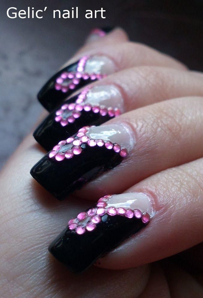 Pink Bling Nail - Weddbook   ♥ Nails Fashion ♥   Pinterest   Pink ...