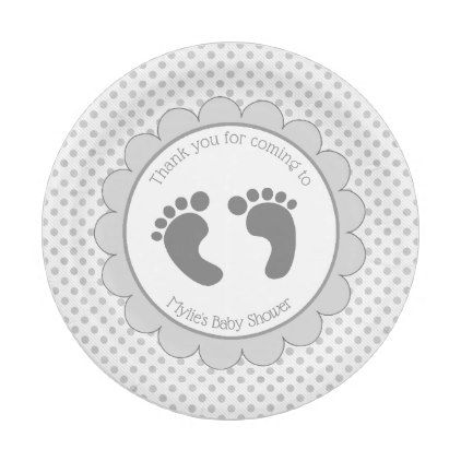 Pink and Gray Baby Feet Paper Plates - home gifts ideas decor special unique custom inidual  sc 1 st  Pinterest & Pink and Gray Baby Feet Paper Plates - home gifts ideas decor ...
