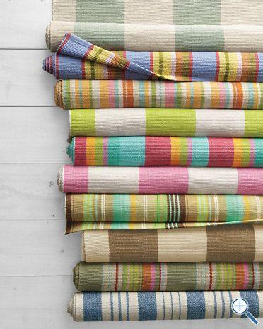 stripe cotton rug - garnet hill
