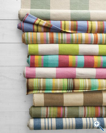 Cottage Stripe Cotton Rug Collection By Dash And Albert Garnet Hill