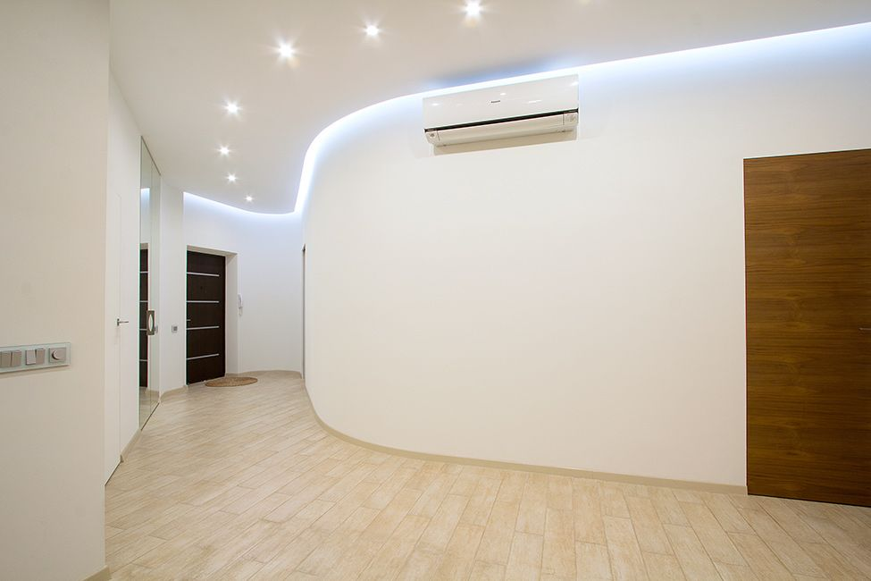 Changing The Mood Of A Studio Apartment Through RGB Lighting: Russian Loft  By G DESIGN