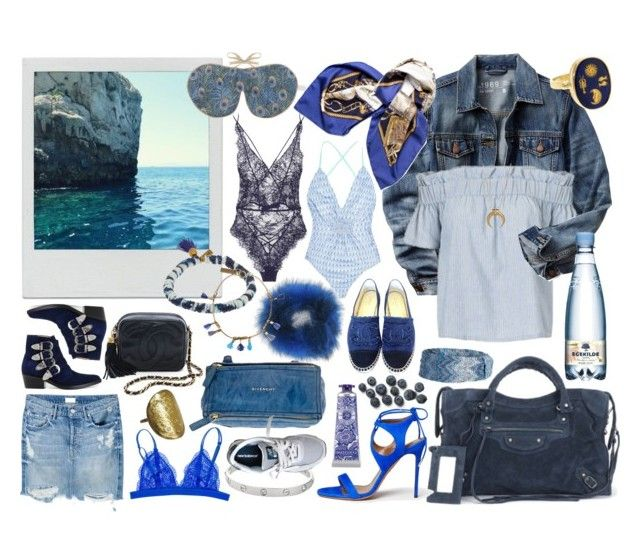 """""""blue"""" by liv-skak ❤ liked on Polyvore featuring Gap, Chanel, Toga, Agent Provocateur, Missoni Mare, Hermès, Givenchy, Isabel Marant, L'Occitane and Missoni"""