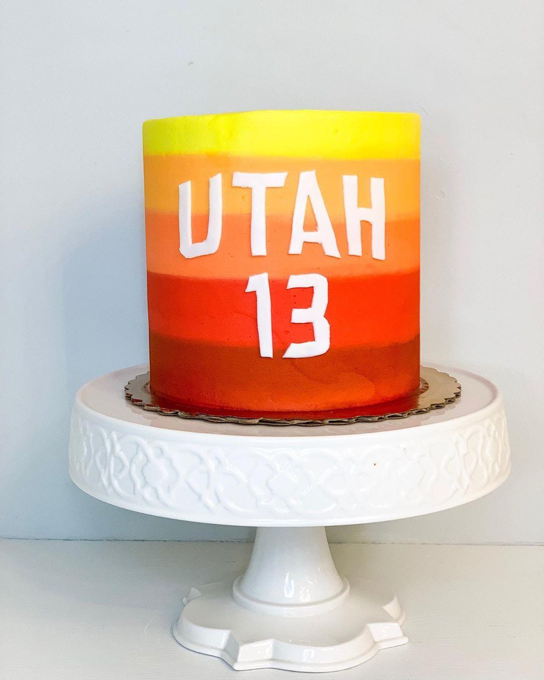Super Utah Jazz City Jersey Birthday Cake Utahjazz Cityjersey Utah Funny Birthday Cards Online Alyptdamsfinfo