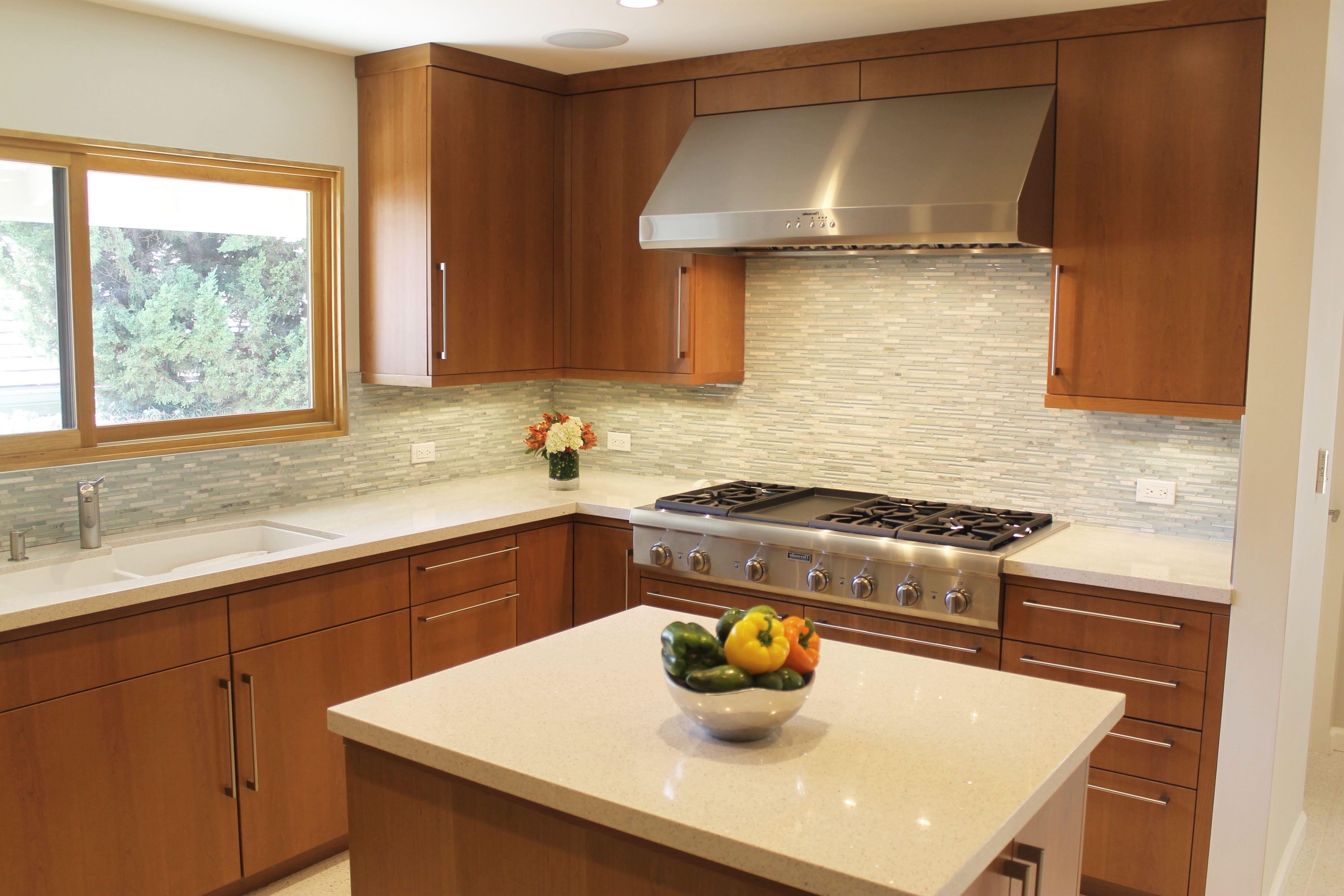 Mid Century Modern Kitchen Countertops Narrow Kitchen ...