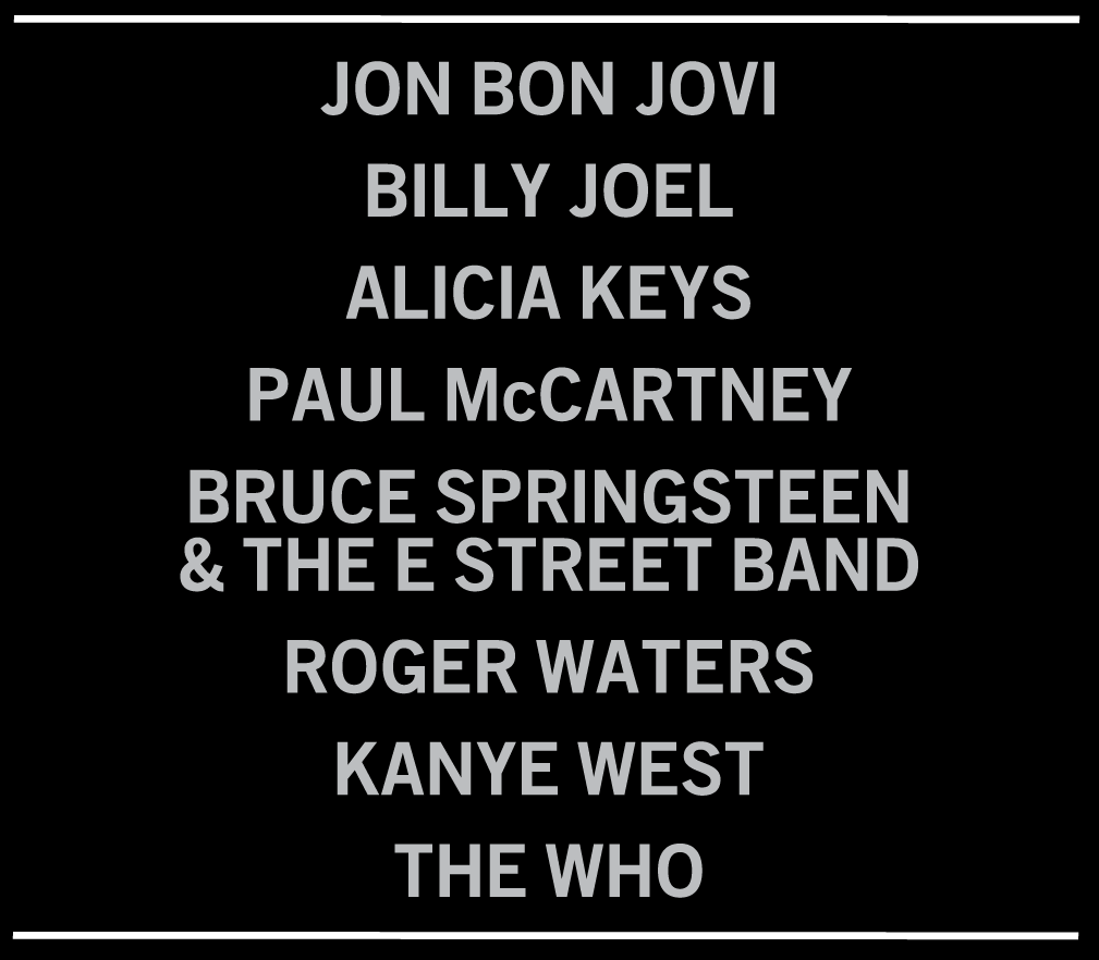 #Celebrity #Charity: Incredible line-up of bands for #121212CONCERT - The Concert for Sandy Relief to benefit the Robin Hood Relief Fund