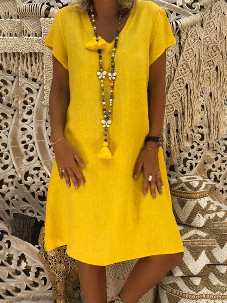3adf7f65c552 Summer Plus Size Dress Tribal African Sundress Short Dress Plain V ...