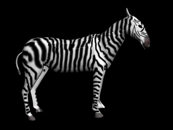 Zebra 3d Models And 3d Graphics In Exchange3d Media Store 3d Model Zebra Architecture Model