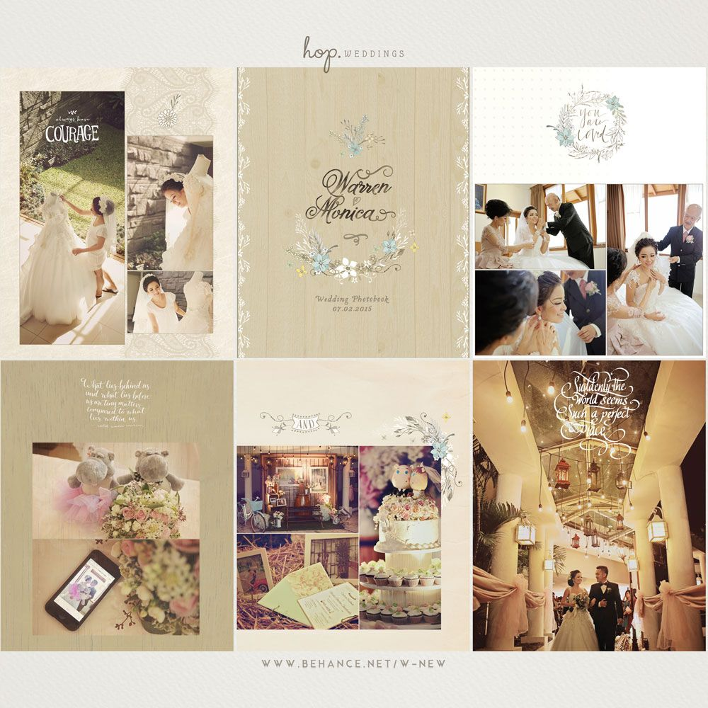 Wedding Photobook of W&M | MY Portfolio - Wedding Book Design + ...