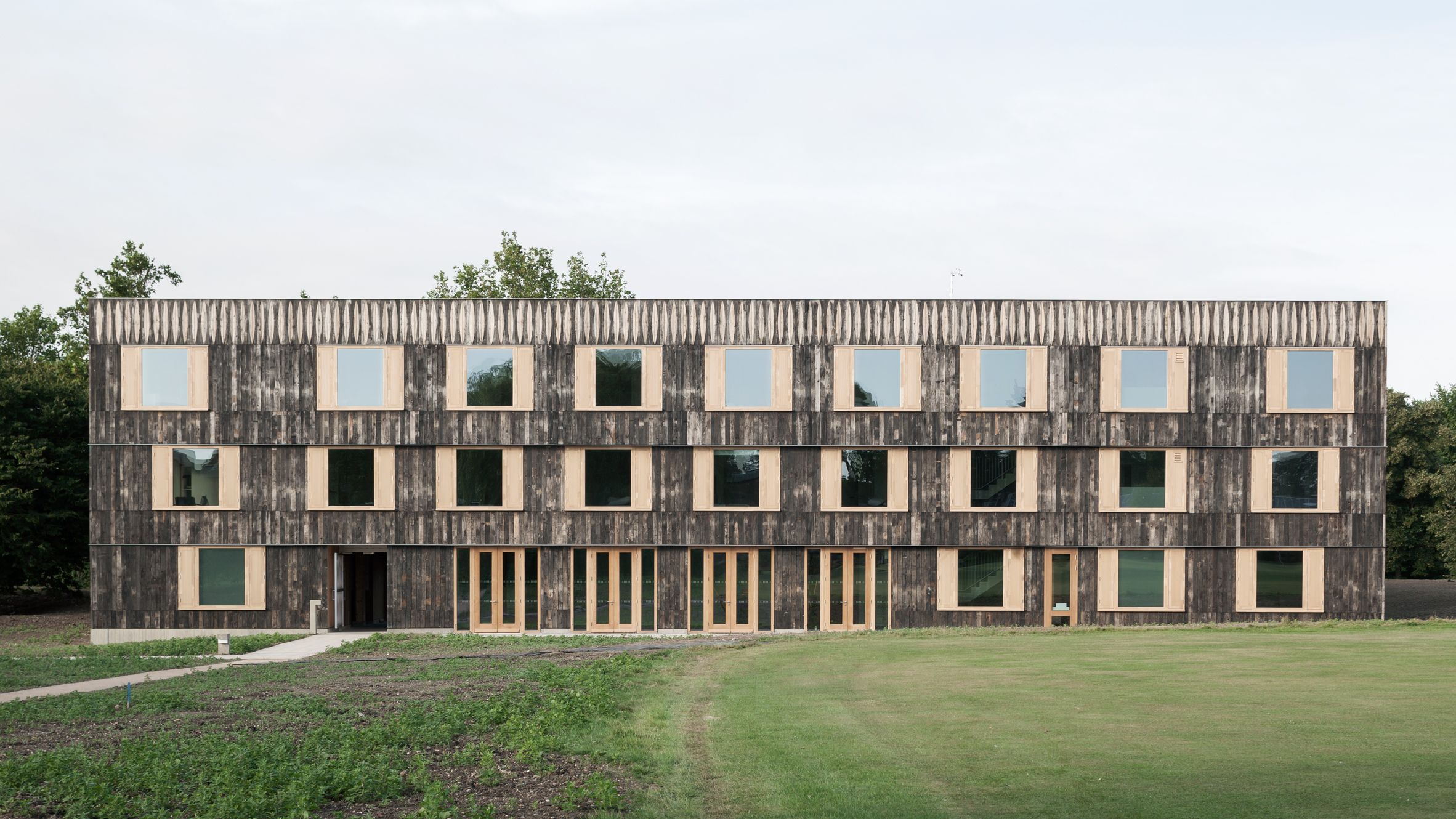 6a Architects Adds Timber Clad Halls To University Of Cambridge Campus