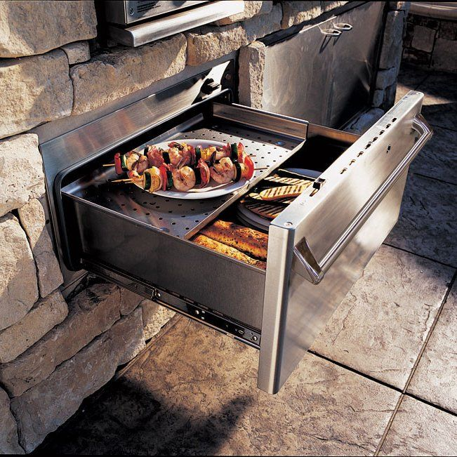 Outdoor Warming Drawer By Dcs 1429 Warming Drawer Outdoor Kitchen Outdoor Kitchen Appliances