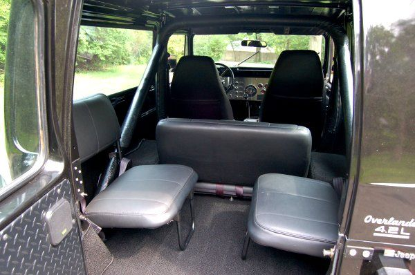 I Put Fj40 Jump Seats Behind The Fold And Tumble In My Scrambler So I Can Seat Six Jeep Seats Jeep Interiors Jeep Yj