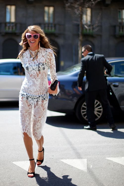 #AnnaDelloRusso laces one up in 2010 for #ArchivesTheSartorialist