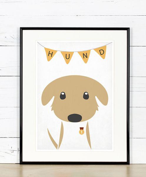 Retro Poster, Hund, Kinderzimmer, Bild, Druck, A3 | Dog poster ...