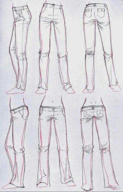 Calca Jeans Roupa Com Imagens Croquis De Moda Desenhos De