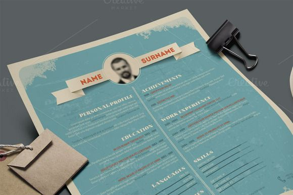 retro resume template by graphicsauthor - Vintage Resume Template
