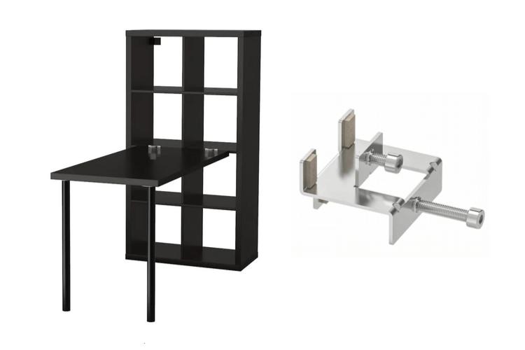 Large Corner Desk Upsized From Ikea Linnmon Tables Kallax Desk Large Corner Desk Kallax