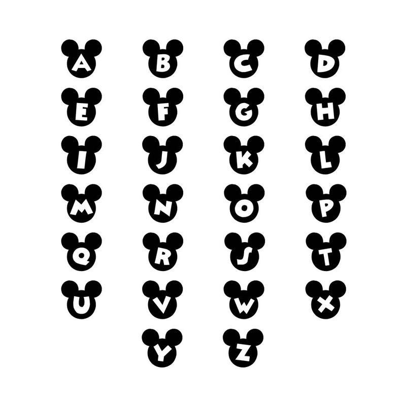 Mickey mouse ears svg font, disney world svg, svg font for