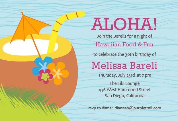 hawaiian luau party invitation template free luau theme