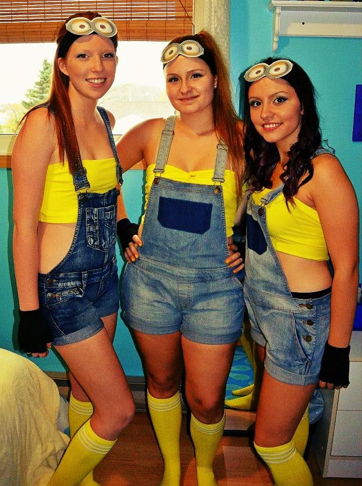 i wonder if the minions will still be cool halloween 2014 diy minion halloween costumes