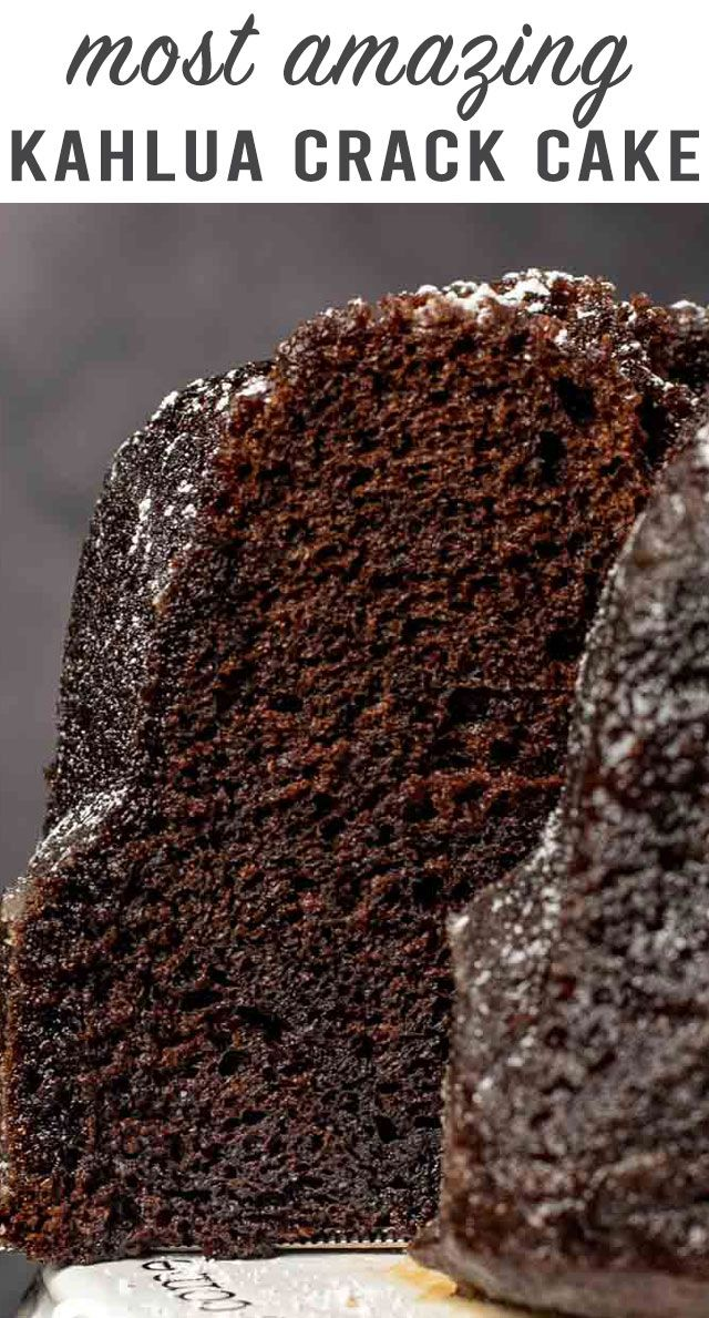 Most Amazing Chocolate Kahlua Crack Cake