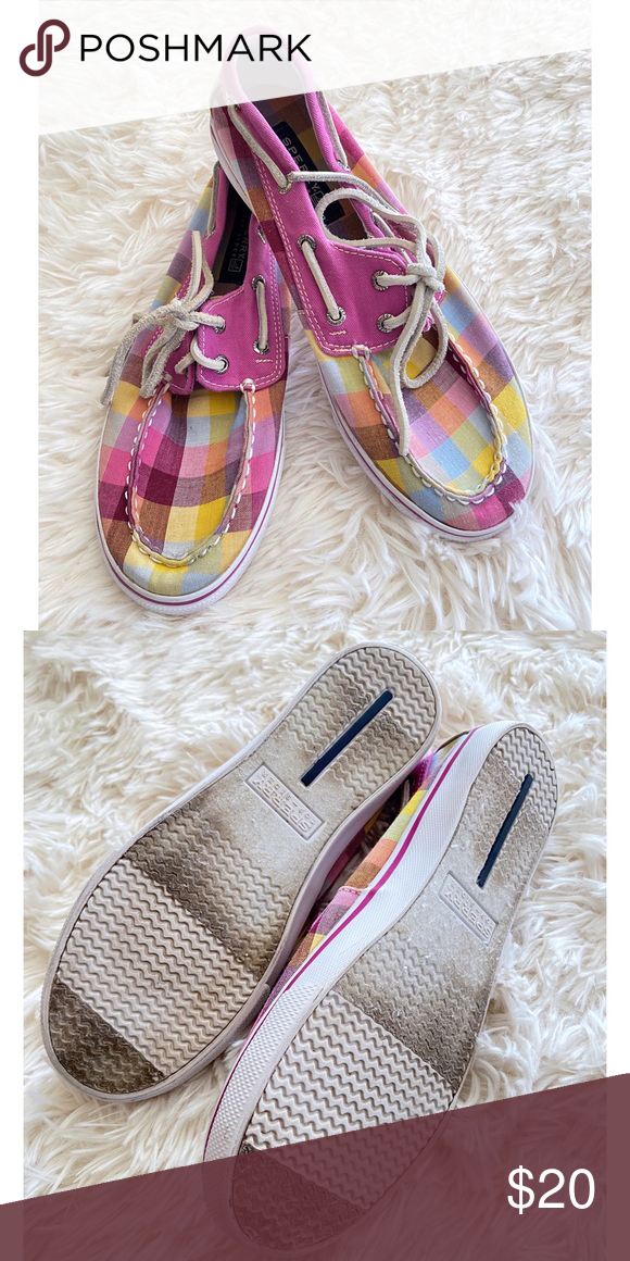 best website cute cheap performance sportswear Sperry Girls Pink Plaid Shoes Loafers Size 4 Adorable! Girl's Pink ...