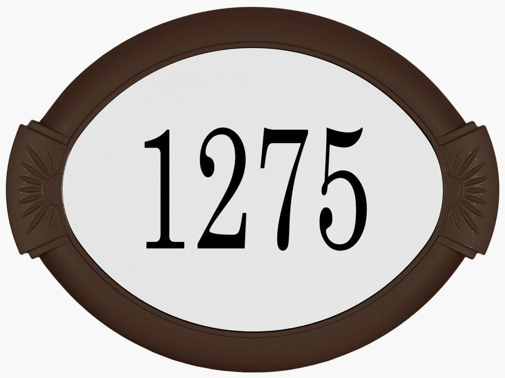 Classic aluminum address plaque mocha address plaque