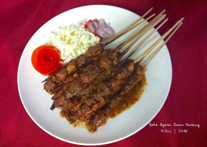 Resep Sate Ayam Saus Kacang Oleh Fitri Sasmaya Resep Resep Masakan Asia Kacang Resep Masakan