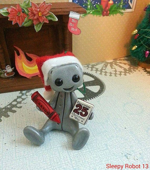 Count down to Christmas Robot Ornament  Limited by sleepyrobot13