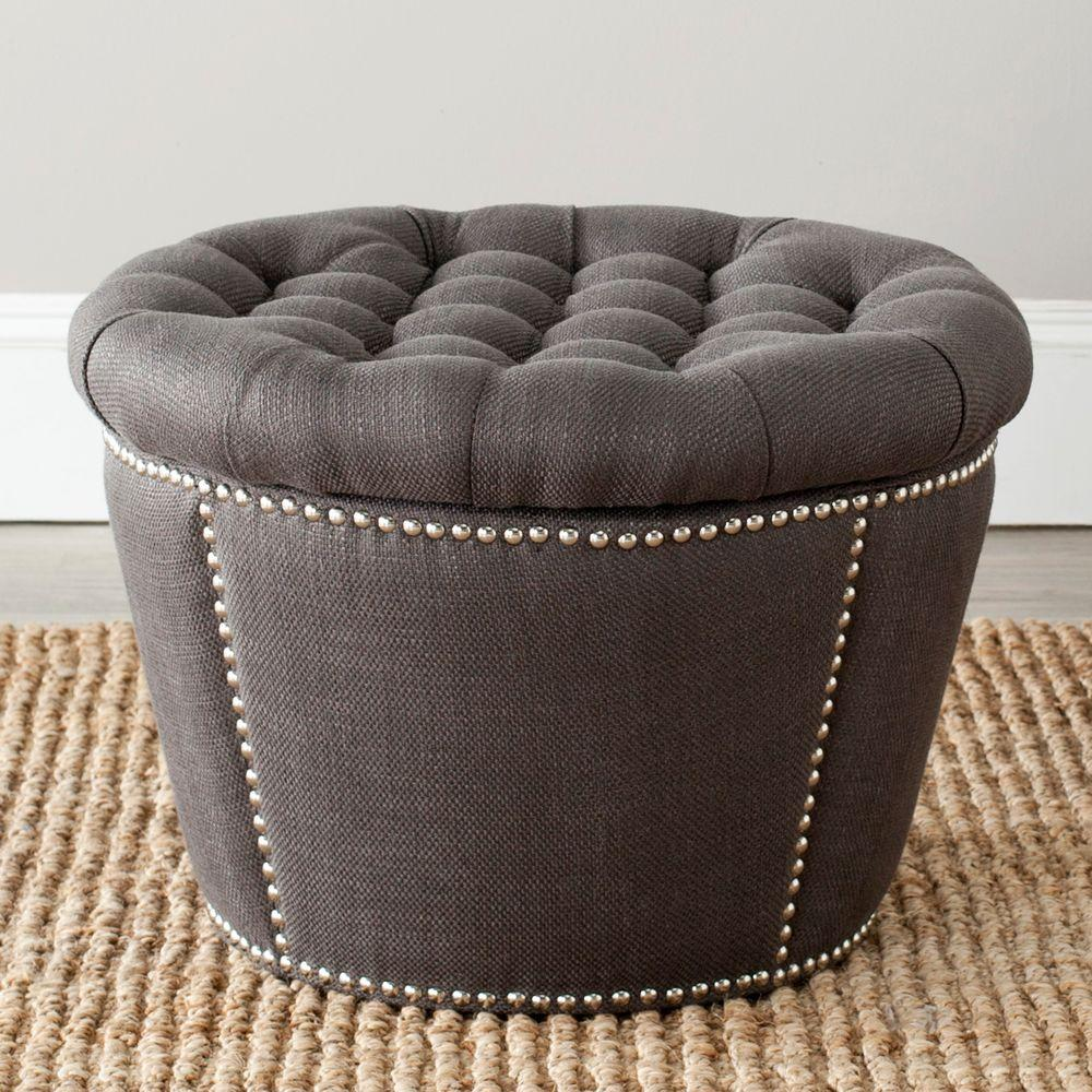 Prime Safavieh Vanessa Charcoal Storage Ottoman Mcr4637B Ibusinesslaw Wood Chair Design Ideas Ibusinesslaworg
