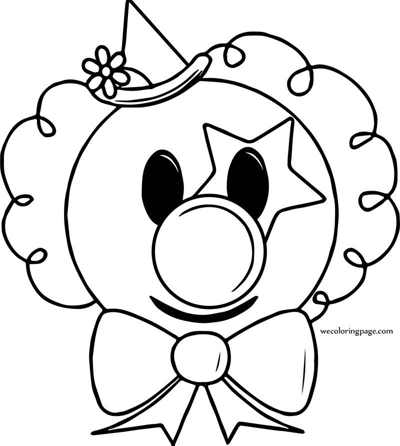 Circus Coloring Page Clown Face. Also see the category to
