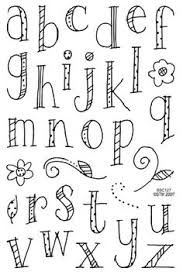 Cute Fonts Alphabet Handwriting