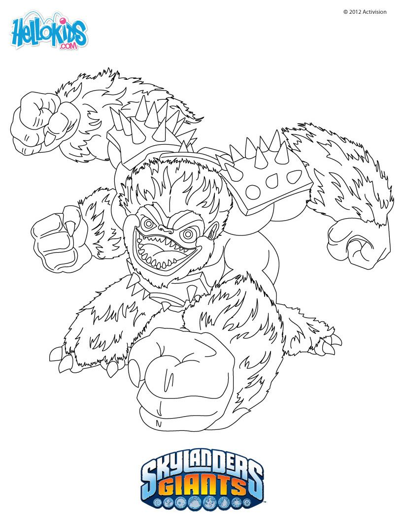 skylanders coloring page  slambam  coloring pages