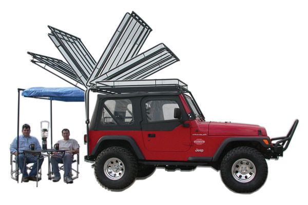 Dave S Rack Cargo Carrier Sunshade For Jeep Wrangler Tj