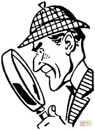 Resultado de imagen de dibujo para colorear sherlock holmes