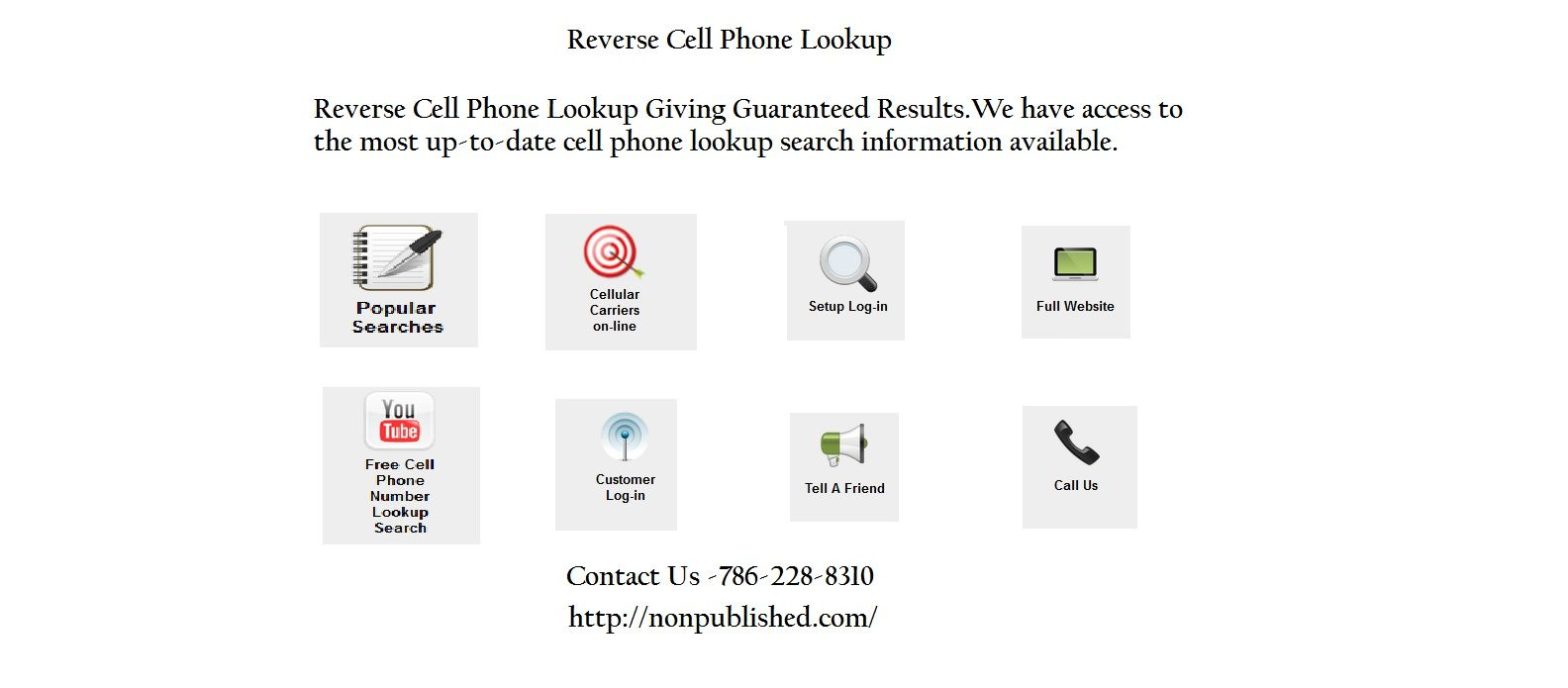 Pin On Non Published Reverse Cell Phone Lookup