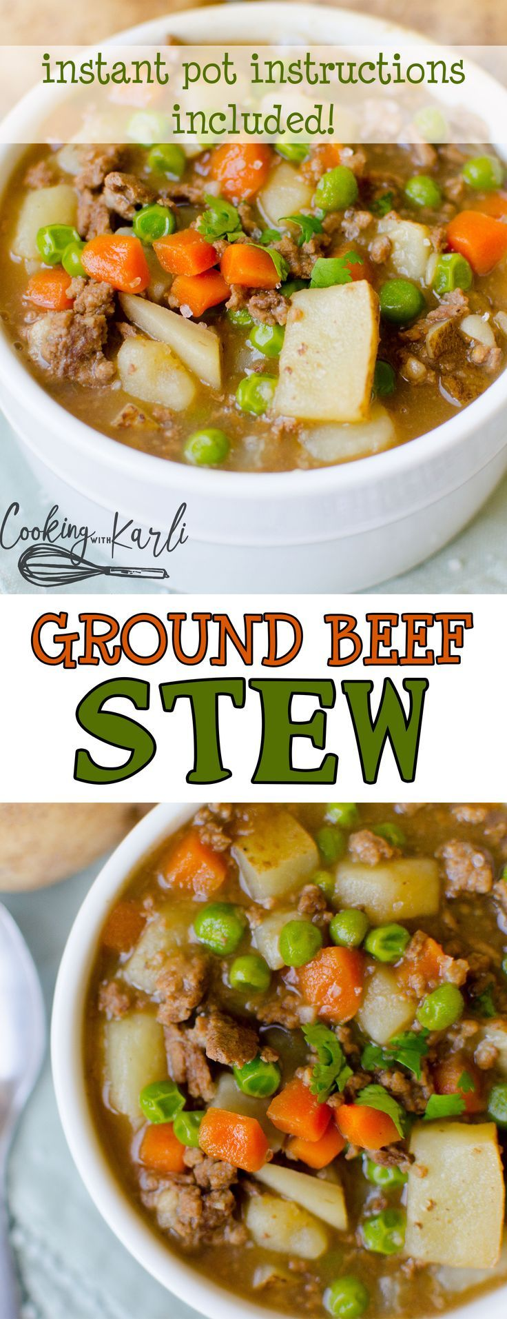 Ground Beef Stew In 2020 Beef Recipes For Dinner Beef Dinner Dinner With Ground Beef