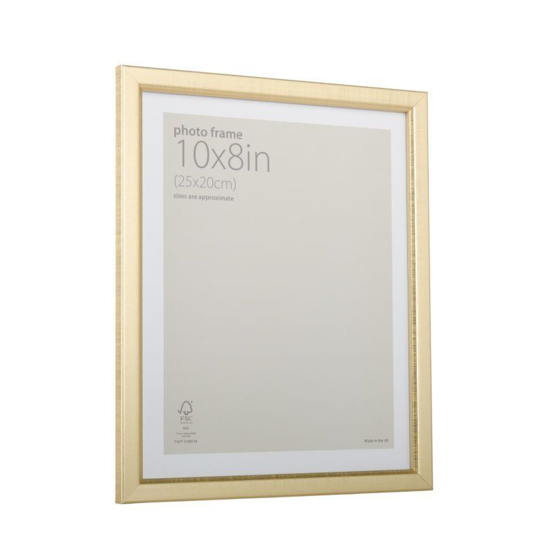 Gold Effect Picture Frame 10 x 8 Inches | Wooden frames and Unique ...