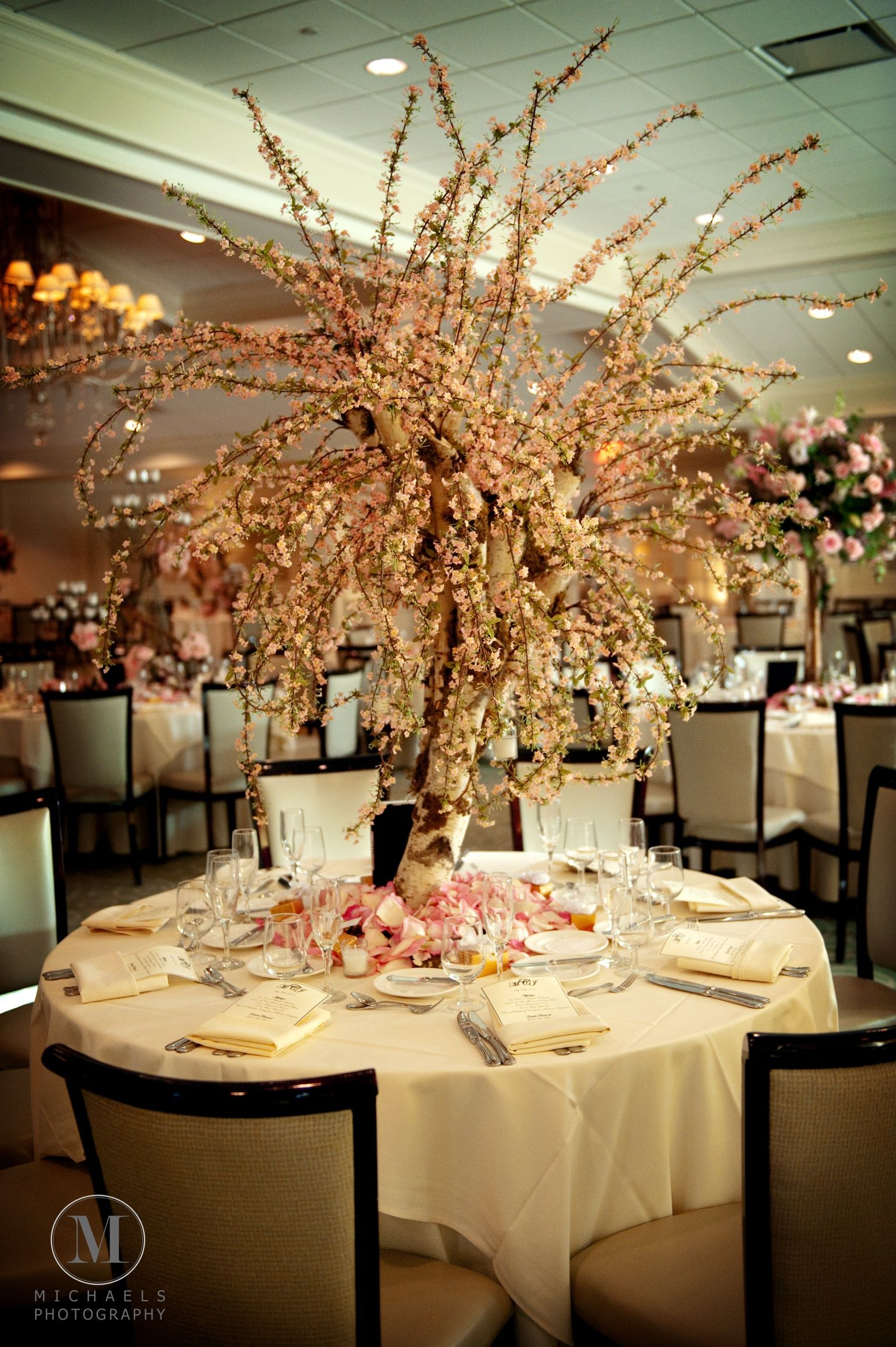 weeping willow tree as a centerpiece rustic weddings table rh pinterest com