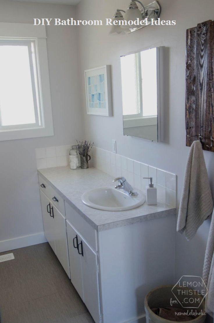 incredible diy ideas for bathroom makeover remodel on bathroom renovation ideas diy id=59546