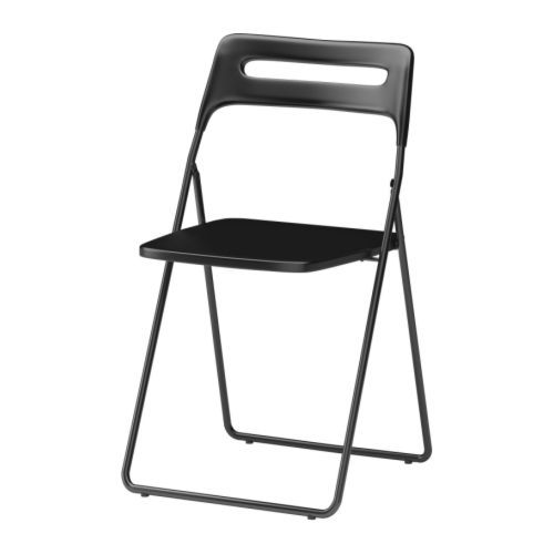 Magnificent Ikea Nisse Black Folding Chair Datapop Folding Chair Andrewgaddart Wooden Chair Designs For Living Room Andrewgaddartcom