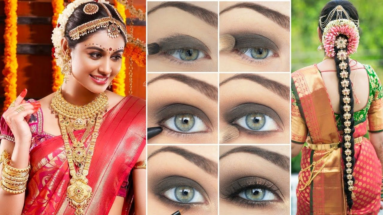 indian bridal #makeup #hairstyle & #sareedraping step by